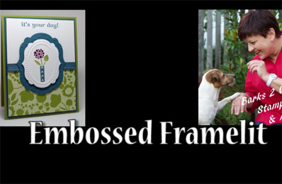 Embossed Framelits Card Video