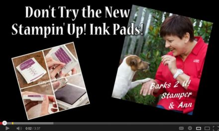 Don't Try the New Stampin' Up! Ink Pads!