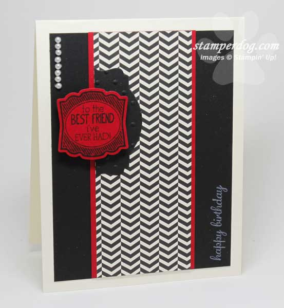 Red and Black Birthday Card