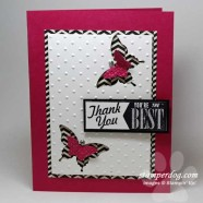 Pink Punch Art Thank You Card