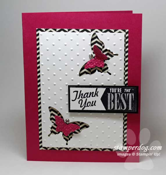 Attractive Thank You Card Making Ideas Part - 7: Pink Thank You Card