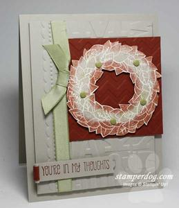 Wreath Sympathy Card