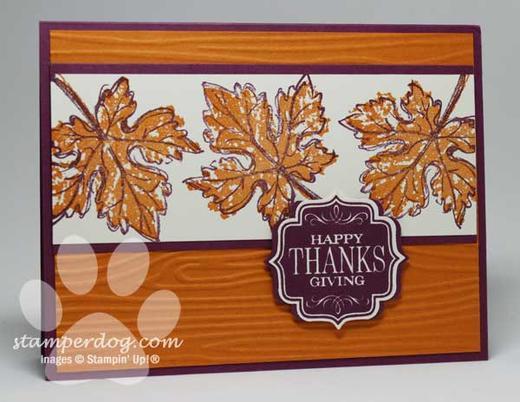 Thanksgiving Card Stampin Up Demonstrator Ann M