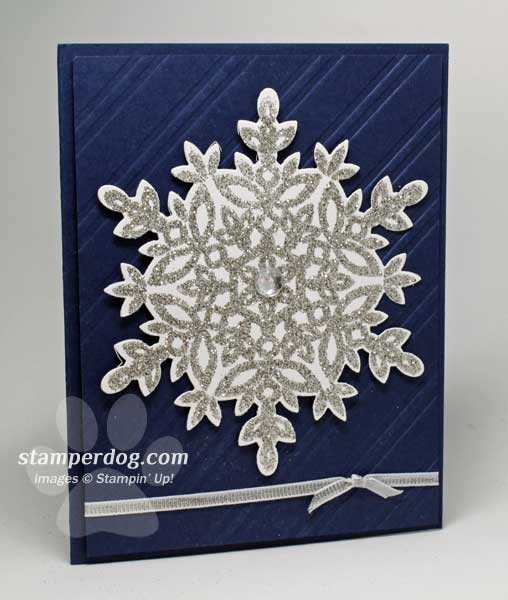 Silver Glitter Snowflake Card