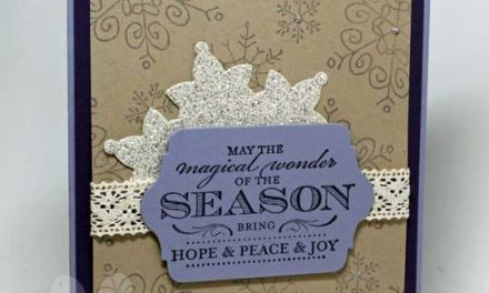 Surprisingly Simple Snowflake Christmas Card