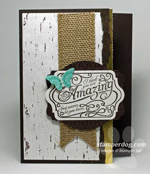 Textured Card for Thank You Thursday