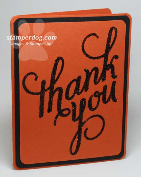 Thank You Card with Heat and Stick Tips
