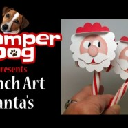 Punch Art Santa for Your Candy Canes