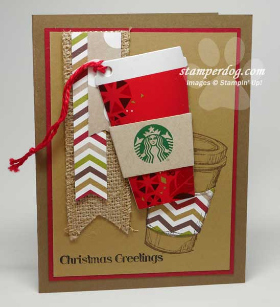Starbucks gift card holder stampin up demonstrator ann