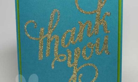 Thank You Card with Glitter