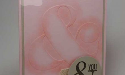 Pink Handmade Valentine Card