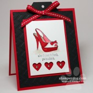Valentine Card for a Shoe Loving Friend
