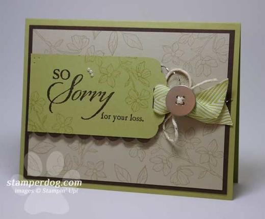 Tips For Making Sympathy Cards Stampin Up Demonstrator