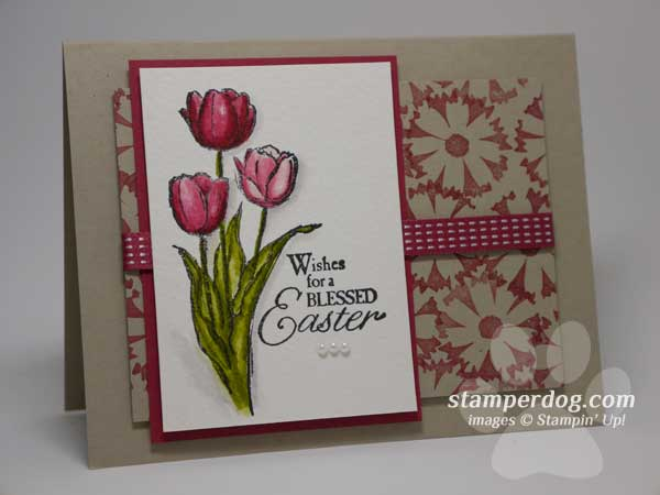 Watercolor Easter Card – Easter Cards Stampin Up