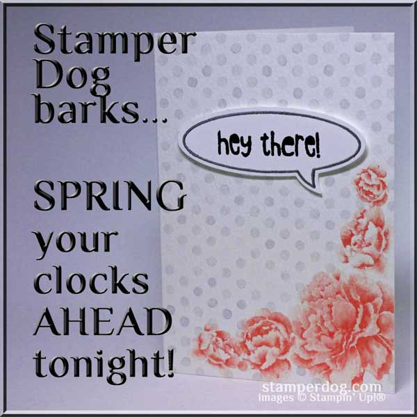 Spring Your Clock Ahead Tonight!