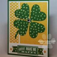 St. Patrick's Day Punch Art Card