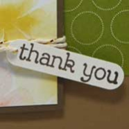 Un-Watercolor Thank You Card