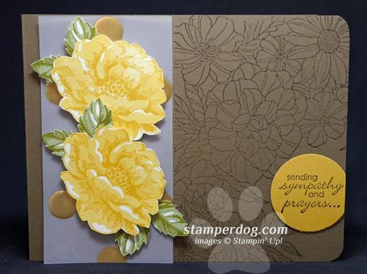 Yellow Rose Sympathy Card