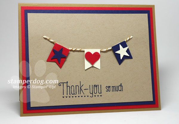 Simply Thank You For Your Service Stampin Up Demonstrator Ann M