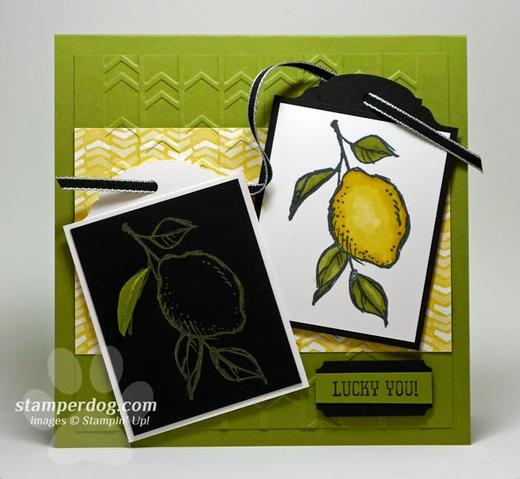 Greeting Card with Lemons