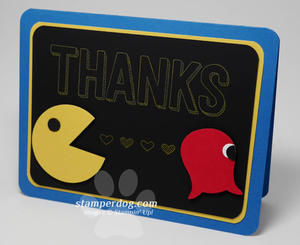 Pac Man Thank You Card