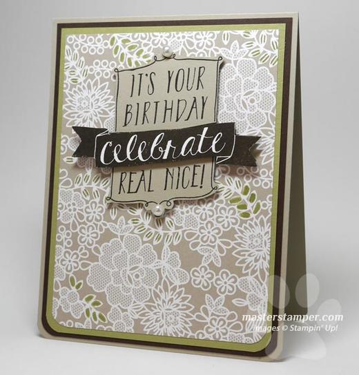 Easy Elegant Birthday Card