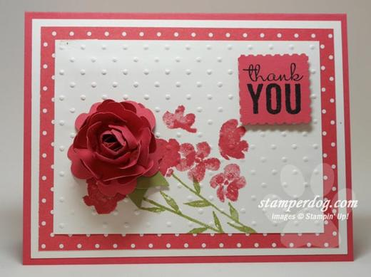 3-D Rose Card