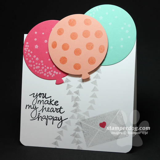Heart & Balloons Card