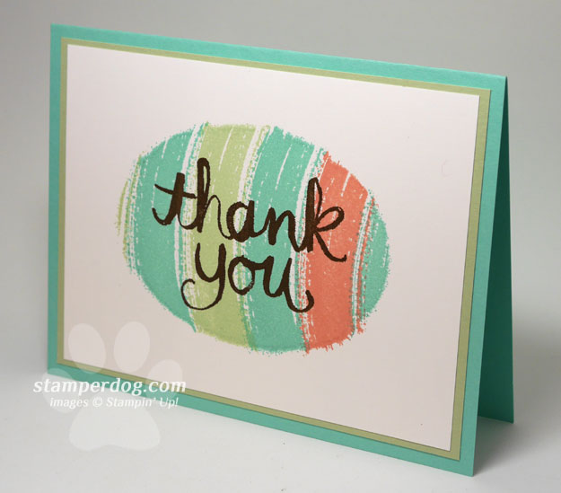 Quick Spring Thank You Card Video Tutorial