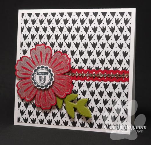 Square Flower Thank You Card