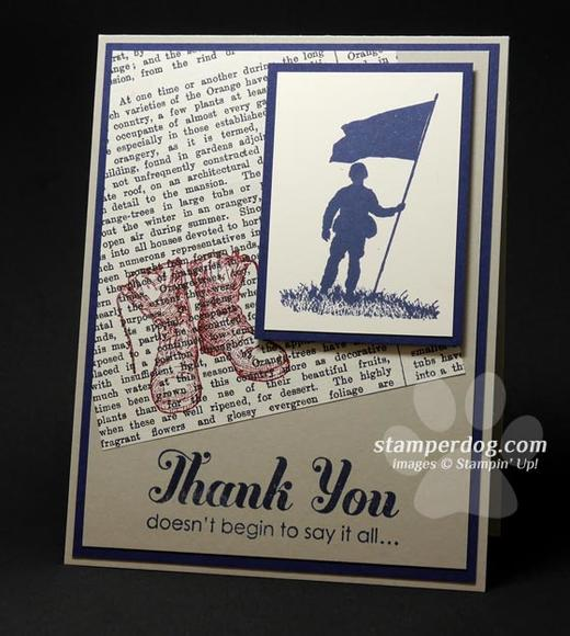 Military Thank You Card