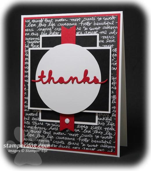 Masculine Thank You Card
