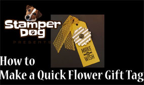 How to Make a Quick Flower Gift Tag