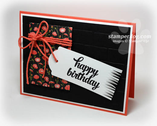 Black Birthday Card
