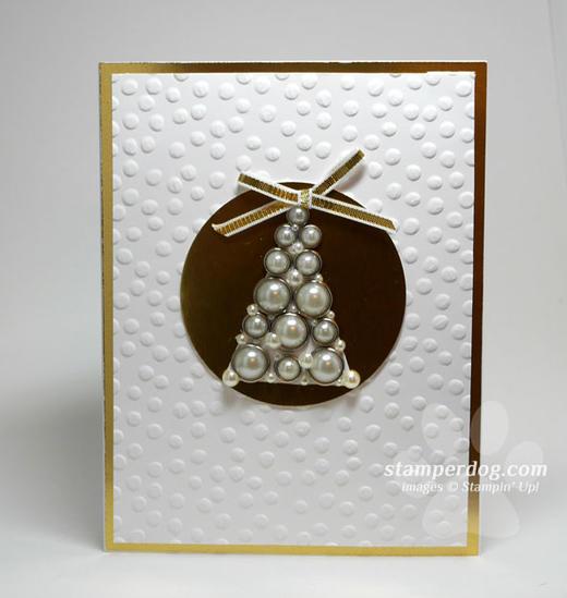 Pearls Christmas Card