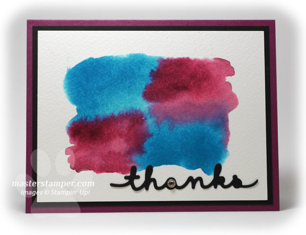 Watercolor Thanks card
