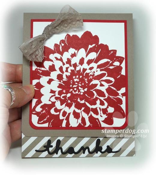 Dahlia Thank You Card
