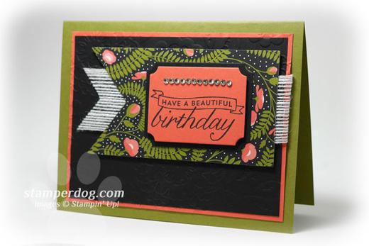 Elegant Black Birthday Card