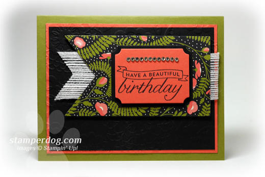 Elegant Black Birthday Card