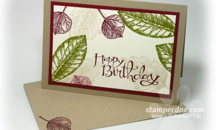 Quick and Fun Vintage Leaves Card