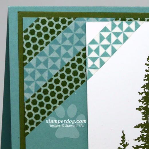 Blue & Green Christmas Card