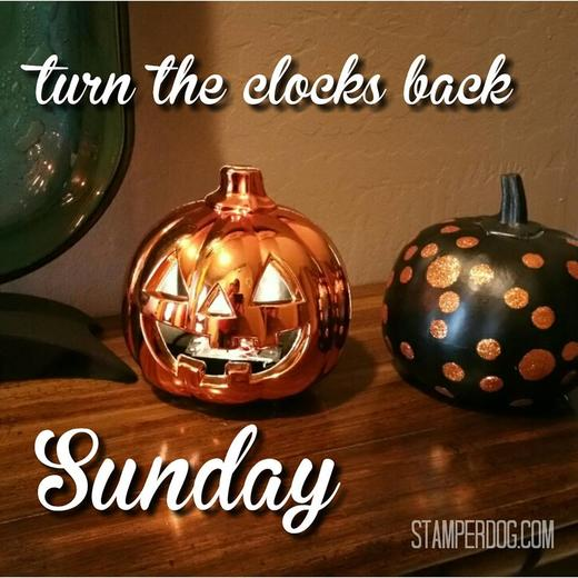 Clocks Fall Back