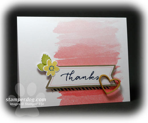 Watercolor Wishes Thank You Card