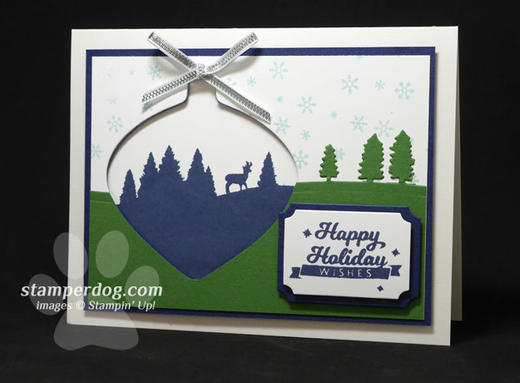 Blue and Green Christmas Card