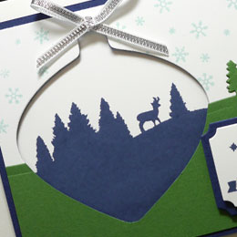 Blue & Green Christmas Card