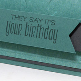 Disappearing Masculine Birthday Card
