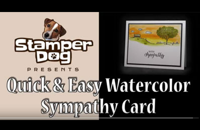 How to Make an Easy Watercolor Sympathy Card Video