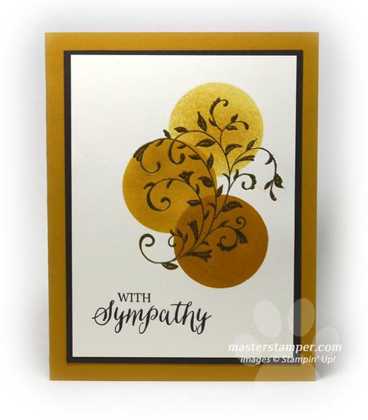 Sponged Sympathy Card