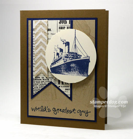 Masculine Birthday Card For My Favorite Human Stampin Up