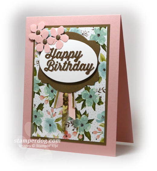 Pink Birthday Card Idea